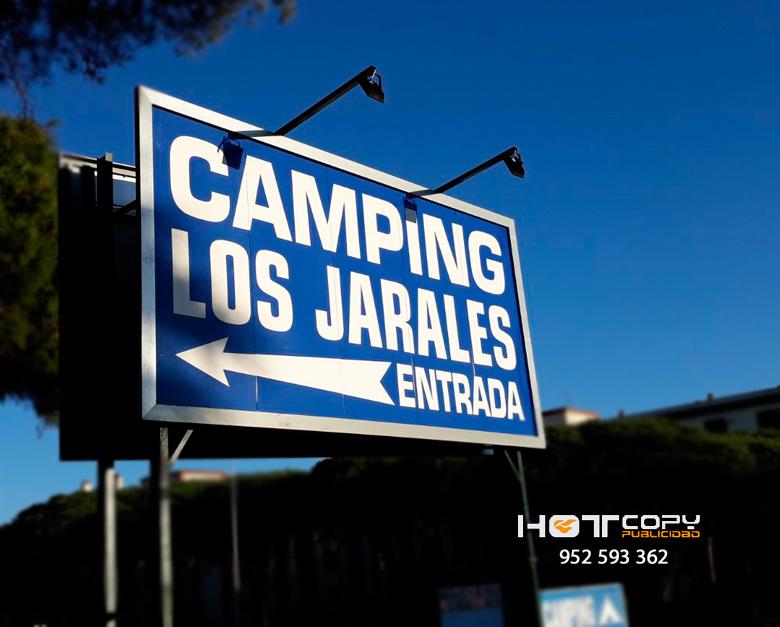 Valla publicitaria para Camping Los Jarales de Calahonda