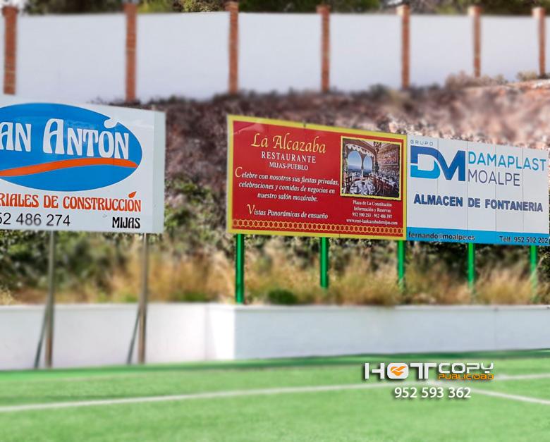 Vallas publicitarias para Estadio de Fútbol de C.D. Mijas