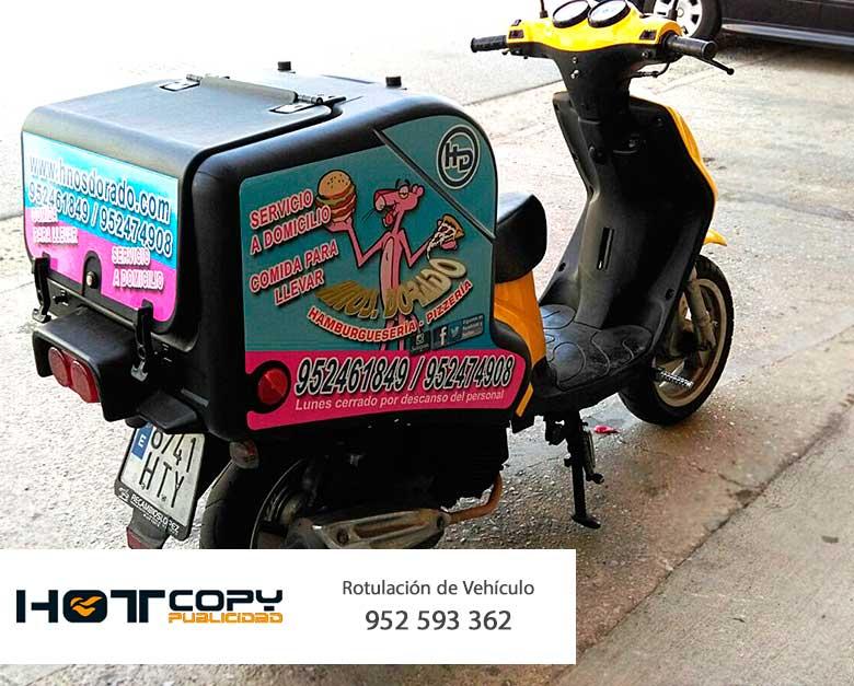 rotulacion moto motocicleta reparto malaga marbella mijas