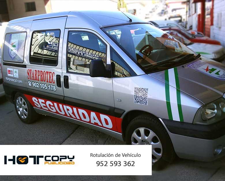 rotulacion vehiculo flota empresa seguridad