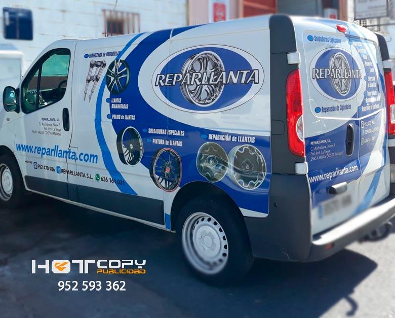 rotulacion vehiculo reparllanta mijas costa malaga
