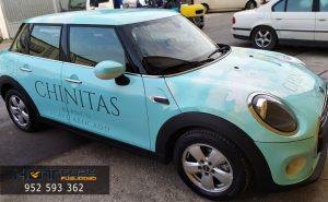 Rotulación de coche empresa Chinitas Málaga Mijas