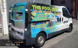 rotulación de furgoneta empresa mantenimiento piscina Málaga Mijas